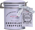 Cartwright&Butler Hazelnut Chocolate Truffles in clip lid tin 180g