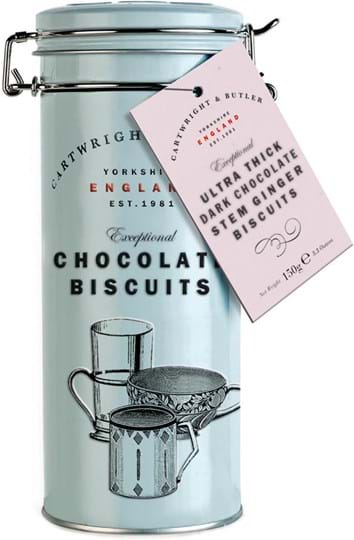Cartwright & Butler Ginger biscuits, covered with ultra thick chocolate