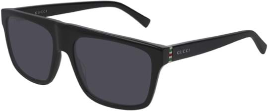 Gucci Men's Sunglasses with a frame made of metal in black and lenses made of plastic in grey
