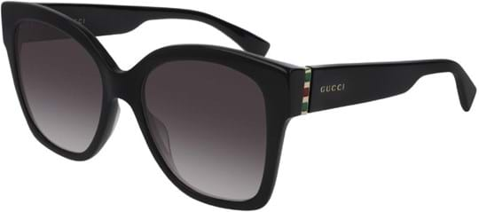 Gucci Women's Sunglasses with a frame made of metal in black and lenses made of plastic in grey