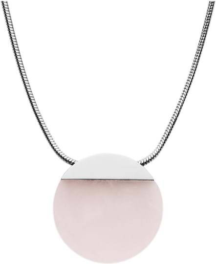 Skagen Ellen Ladies necklace, stainless steel, semi-precious stone, silver