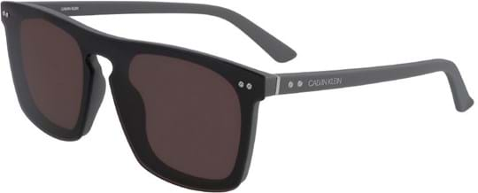 Calvin Klein Sunglasses with a frame made of plastic in grey and lenses made of plastic in brown