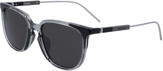 Calvin Klein Sunglasses with a frame made of acetate in black and lenses made of plastic in grey