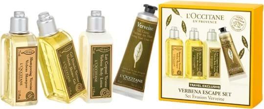 L'Occitane en Provence Verbena Set Cont.: Shower Gel 75 ml + Body Lotion 75 ml + Shampoo 75 ml + Hand Cream 30 ml