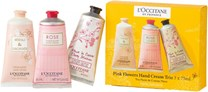 L'Occitane En Provence Pink Flowers Hand Cream Trio Set