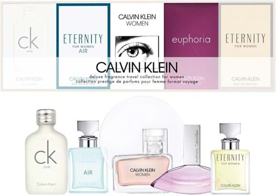 Calvin Klein Women's Coffret cont.: CK One 10 ml + Women EDP 5 ml + Eternity Air EDP 5 ml + Eternity 5 ml + Euphoria EDP 4ml