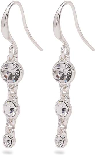 """Pilgrim Earring """"Lucia_PI"""", ref.: 601916033, trade line: Classic, colour: silver plated, material:60% brass, 38% crystal, 2% plating"""