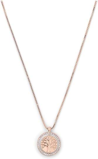 """Travel Retail Pilgrim Necklace """"TREE OF LIFE"""", ref.: 821914021, trade line: Travel retail, colour: rose gold plated, material:40% brass, 4% crystal, 2% plating, 54% zinc"""