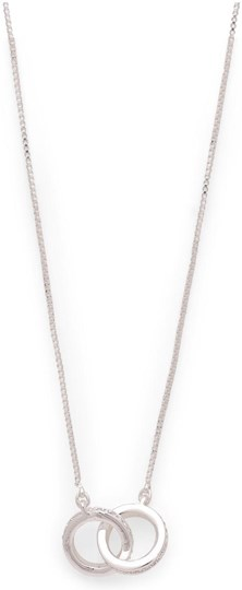 """Pilgrim Necklace """"Junia"""", ref.: 821916011, trade line: Travel retail, colour: silver plated, material:45% brass, 3% crystal, 2% plating, 50% zinc"""
