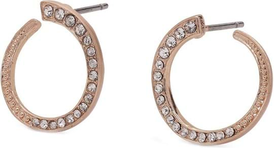 "Pilgrim Earring ""Lenore"", ref.: 841914033, trade line: Travel retail, colour: rose gold plated, material:78% brass, 10% crystal, 2% plating, 10% steel"
