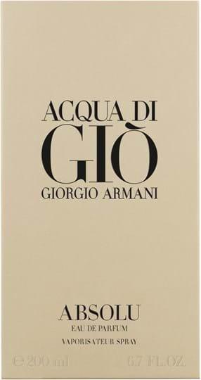 Armani Acqua di Gio Absolu Eau de Parfum 200 ml