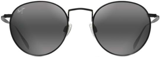 Maui Jim Nautilus Sunglasses with a frame made of titanium in black and lenses made of plastic in grey