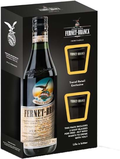 Fernet Branca 39 % 0,5L Glas Onpack