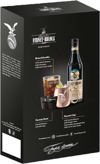 Fernet Branca Fernet-Branca 0.5L pack with 2 shot glasses