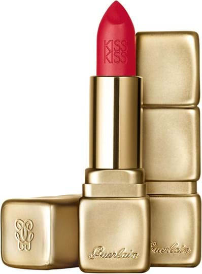 Guerlain Kisskiss Matte-læbestift N° M332 Fire Red