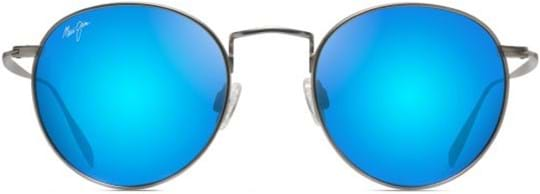 Maui Jim Sunglasses with a frame made of titanium in titanium and lenses made of plastic in blue hawaii