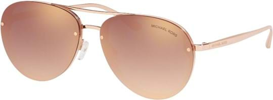 Michael Kors Sporty Women's Sunglasses with a frame made of plastic in rose gold and lenses made of plastic in rose gold gradient