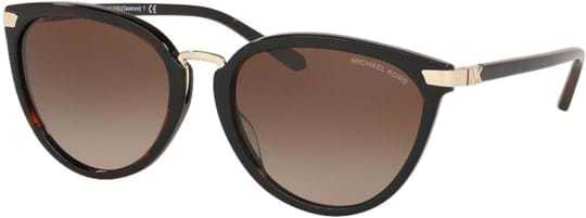 Michael Kors Glam Women's Sunglasses with a frame made of acetate in brown and lenses made of plastic in grey gradient