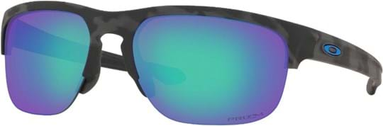 Oakley Performance Lifestyle Men's Sunglasses with a frame made of plastic in black and lenses made of plastic in blue