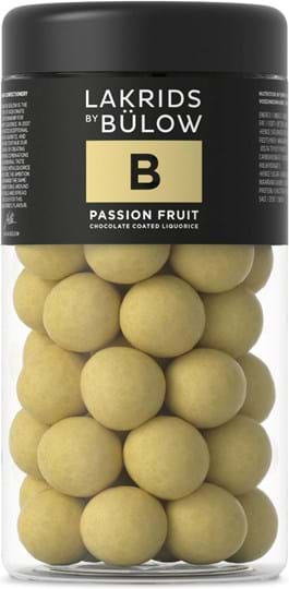 Lakrids by Bülow Chocolate balls filled with liquorice and passion fruit flavour