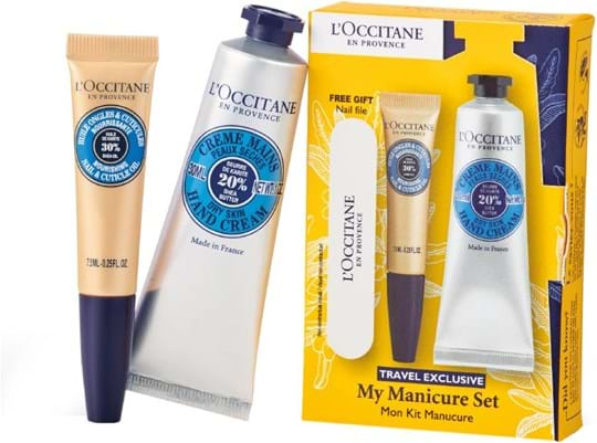 L'Occitane en Provence Karite-Shea Butter My Manucure Set cont.: Shea Hand Cream 30 ml (GH 650678) + Cuticule Oil 7,5 ml (GH 1353116) + File Accessory
