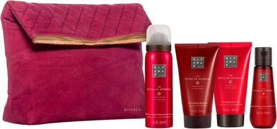 Rituals Ayurveda Set cont.: Foaming Shower Gel 50 ml + Shampoo 70 ml + Body Cream 70 ml + Dry Body Oil 50 ml