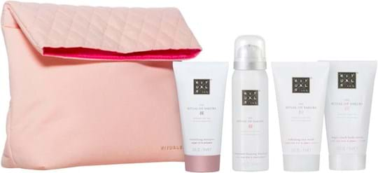 Rituals Sakura Set cont.: Foaming Shower Gel 50 ml + Body Scrub 70 ml + Body Cream 70 ml + Shampoo 70 ml