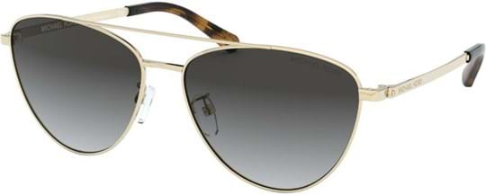 Michael Kors Sport-Luxe Chic Women's sunglasses with a frame made of metal in gold and lenses made of plastic in grey gradient