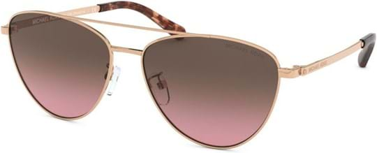 Michael Kors Sport-Luxe Chic Women's sunglasses with a frame made of metal in rose gold and lenses made of plastic in brown