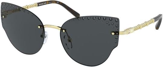 Michael Kors Modern Glamour Women's sunglasses with a frame made of metal in gold and lenses made of plastic in grey