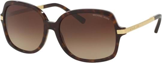 Michael Kors Women's sunglasses with a frame made of acetate in brown and lenses made of plastic in brown gradient