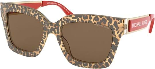 Michael Kors Sporty Women's sunglasses with a frame made of acetate in brown and lenses made of plastic in brown