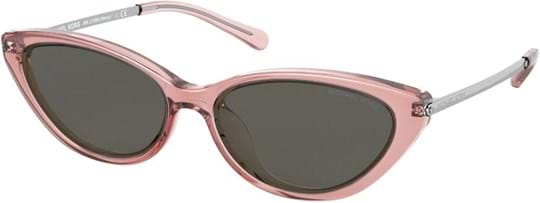 Michael Kors Sport-Luxe Chic Women's sunglasses with a frame made of plastic in pink and lenses made of plastic in grey
