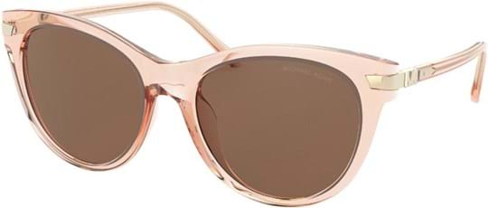 Michael Kors Modern Glamour Women's sunglasses with a frame made of plastic in pink and lenses made of plastic in brown