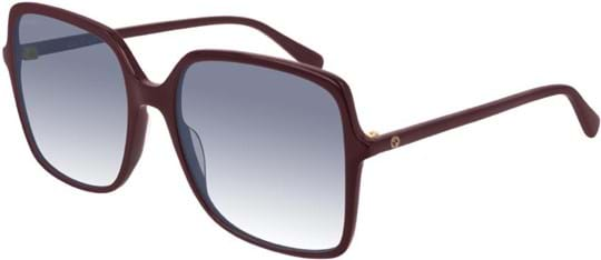 Gucci Women's sunglasses with a frame made of acetate in red and lenses made of plastic in blue
