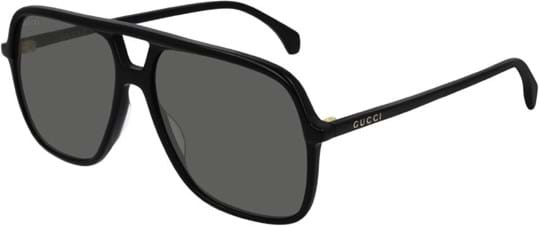 Gucci Men's sunglasses with a frame made of acetate in black and lenses made of plastic in grey