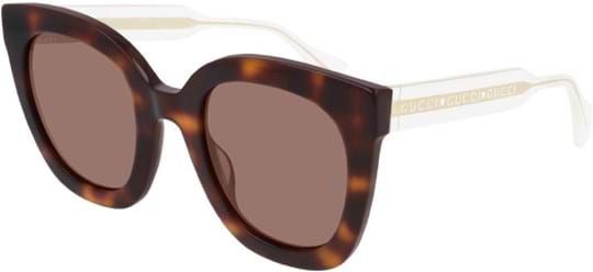 Gucci Women's sunglasses with a frame made of acetate in brown and lenses made of plastic in brown