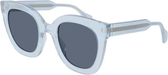 Gucci Women's sunglasses with a frame made of acetate in blue and lenses made of plastic in blue