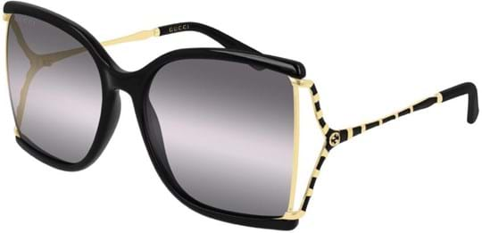 Gucci Women's sunglasses with a frame made of plastic in black and lenses made of plastic in grey