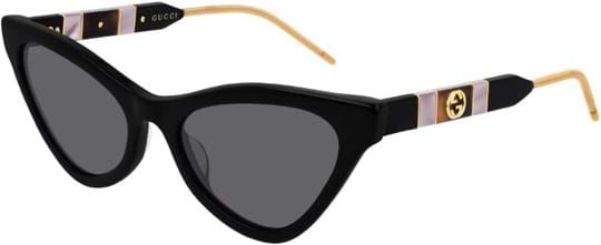 Gucci Women's sunglasses with a frame made of acetate in black and lenses made of plastic in grey