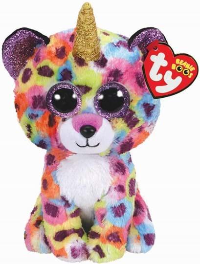 Ty, Beanie Boos, giselle leopard with horn - beanie boo