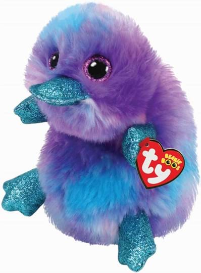 Ty, Beanie Boos, zappy purple platypus - beanie boo medium