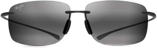 Maui Jim Unisex Sunglasses with a frame made of nylon in grey and lenses made of plastic in grey