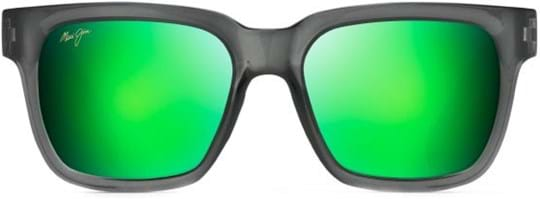 Maui Jim Unisex Sunglasses with a frame made of nylon in grey and lenses made of glass in green