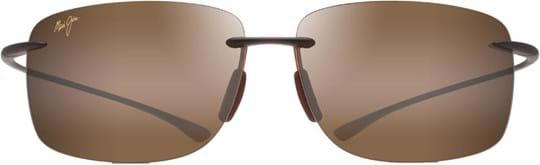 Maui Jim Unisex Sunglasses with a frame made of nylon in brown and lenses made of plastic in brown