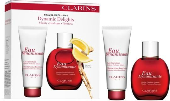 Clarins Travel Sets Dynamic Delights Set cont.: Eau Dynamisante 100 ml (GH 71463) + Eau Dynamisante Moisturizing Body Lotion 100 ml