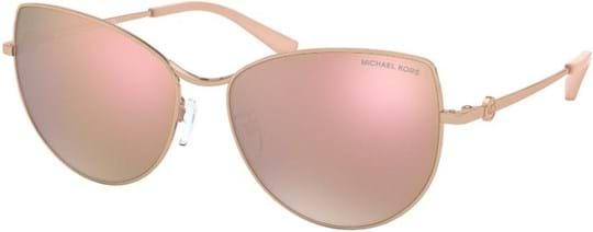 Michael Kors Sport-Luxe Chic Women's Sunglasses with a frame made of metal in rose gold and lenses made of plastic in rose gold