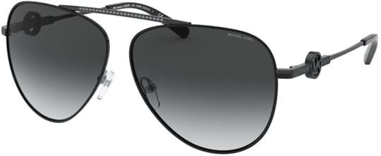Michael Kors Modern Glamour Women's Sunglasses with a frame made of metal in black and lenses made of plastic in grey gradient