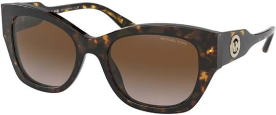 Michael Kors Modern Glamour Women's Sunglasses with a frame made of acetate in brown and lenses made of plastic in brown gradient