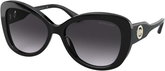 Michael Kors Modern Glamour Women's Sunglasses with a frame made of acetate in black and lenses made of plastic in grey gradient
